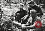 Image of United States soldiers relaxing World War 1 France, 1918, second 8 stock footage video 65675061255