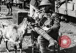 Image of United States soldiers relaxing World War 1 France, 1918, second 27 stock footage video 65675061255