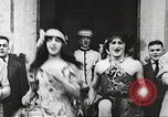 Image of World War 1 US soldiers watching drag queens perform France, 1918, second 8 stock footage video 65675061256