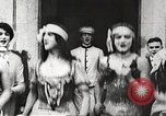 Image of World War 1 US soldiers watching drag queens perform France, 1918, second 10 stock footage video 65675061256