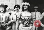 Image of World War 1 US soldiers watching drag queens perform France, 1918, second 13 stock footage video 65675061256