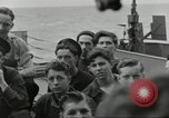 Image of Allied convoy Colleville-sur-Mer Normandy France, 1944, second 23 stock footage video 65675061302
