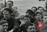 Image of Allied convoy Colleville-sur-Mer Normandy France, 1944, second 24 stock footage video 65675061302