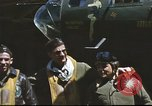 Image of B-17 Flying Fortress bomber crew United Kingdom, 1943, second 21 stock footage video 65675061380