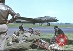 Image of B-17 Flying Fortress bomber crew United Kingdom, 1943, second 47 stock footage video 65675061380