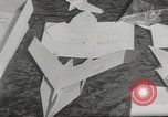 Image of paper airplanes New York City USA, 1967, second 13 stock footage video 65675061510