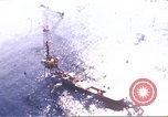 Image of offshore oil rig Atlantic Ocean, 1965, second 1 stock footage video 65675061602