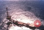 Image of offshore oil rig Atlantic Ocean, 1965, second 8 stock footage video 65675061602