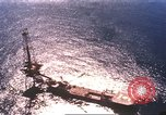 Image of offshore oil rig Atlantic Ocean, 1965, second 9 stock footage video 65675061602