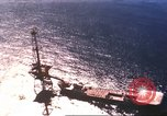 Image of offshore oil rig Atlantic Ocean, 1965, second 14 stock footage video 65675061602