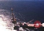 Image of offshore oil rig Atlantic Ocean, 1965, second 19 stock footage video 65675061602