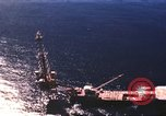 Image of offshore oil rig Atlantic Ocean, 1965, second 20 stock footage video 65675061602