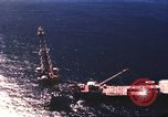 Image of offshore oil rig Atlantic Ocean, 1965, second 21 stock footage video 65675061602