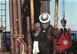 Image of offshore oil rig Atlantic Ocean, 1965, second 11 stock footage video 65675061603