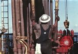Image of offshore oil rig Atlantic Ocean, 1965, second 13 stock footage video 65675061603