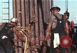 Image of offshore oil rig Atlantic Ocean, 1965, second 21 stock footage video 65675061603