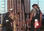 Image of offshore oil rig Atlantic Ocean, 1965, second 22 stock footage video 65675061603