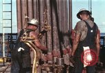 Image of offshore oil rig Atlantic Ocean, 1965, second 23 stock footage video 65675061603