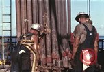 Image of offshore oil rig Atlantic Ocean, 1965, second 24 stock footage video 65675061603