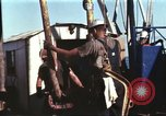 Image of offshore oil rig Atlantic Ocean, 1965, second 28 stock footage video 65675061603