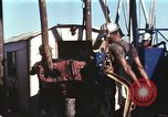 Image of offshore oil rig Atlantic Ocean, 1965, second 29 stock footage video 65675061603