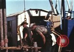Image of offshore oil rig Atlantic Ocean, 1965, second 32 stock footage video 65675061603