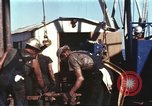 Image of offshore oil rig Atlantic Ocean, 1965, second 33 stock footage video 65675061603