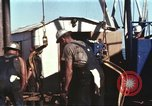 Image of offshore oil rig Atlantic Ocean, 1965, second 34 stock footage video 65675061603