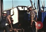 Image of offshore oil rig Atlantic Ocean, 1965, second 37 stock footage video 65675061603