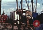 Image of offshore oil rig Atlantic Ocean, 1965, second 40 stock footage video 65675061603