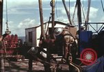 Image of offshore oil rig Atlantic Ocean, 1965, second 41 stock footage video 65675061603