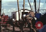 Image of offshore oil rig Atlantic Ocean, 1965, second 42 stock footage video 65675061603