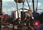 Image of offshore oil rig Atlantic Ocean, 1965, second 44 stock footage video 65675061603