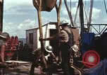 Image of offshore oil rig Atlantic Ocean, 1965, second 46 stock footage video 65675061603
