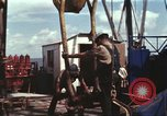 Image of offshore oil rig Atlantic Ocean, 1965, second 47 stock footage video 65675061603