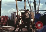 Image of offshore oil rig Atlantic Ocean, 1965, second 48 stock footage video 65675061603