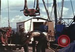 Image of offshore oil rig Atlantic Ocean, 1965, second 51 stock footage video 65675061603