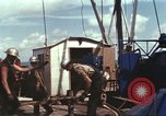 Image of offshore oil rig Atlantic Ocean, 1965, second 52 stock footage video 65675061603