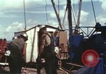 Image of offshore oil rig Atlantic Ocean, 1965, second 54 stock footage video 65675061603