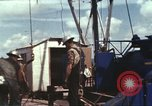 Image of offshore oil rig Atlantic Ocean, 1965, second 56 stock footage video 65675061603