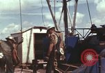 Image of offshore oil rig Atlantic Ocean, 1965, second 57 stock footage video 65675061603
