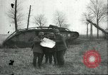 Image of captured British Mark IV heavy tank Cambrai France, 1917, second 13 stock footage video 65675061615