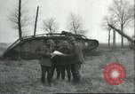 Image of captured British Mark IV heavy tank Cambrai France, 1917, second 14 stock footage video 65675061615