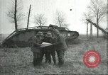 Image of captured British Mark IV heavy tank Cambrai France, 1917, second 15 stock footage video 65675061615