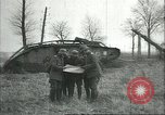 Image of captured British Mark IV heavy tank Cambrai France, 1917, second 17 stock footage video 65675061615