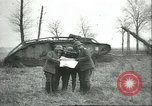 Image of captured British Mark IV heavy tank Cambrai France, 1917, second 18 stock footage video 65675061615