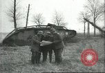 Image of captured British Mark IV heavy tank Cambrai France, 1917, second 19 stock footage video 65675061615