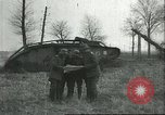 Image of captured British Mark IV heavy tank Cambrai France, 1917, second 20 stock footage video 65675061615