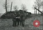 Image of captured British Mark IV heavy tank Cambrai France, 1917, second 21 stock footage video 65675061615