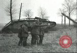 Image of captured British Mark IV heavy tank Cambrai France, 1917, second 22 stock footage video 65675061615